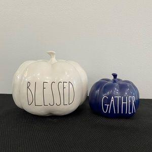 Rae Dunn Blessed Gather Pumpkins Fall Halloween